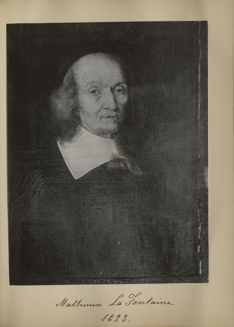 [Portrait de la salle des Actes] Mathurin La Fontaine 1623 -  - medextcnop0003x0025