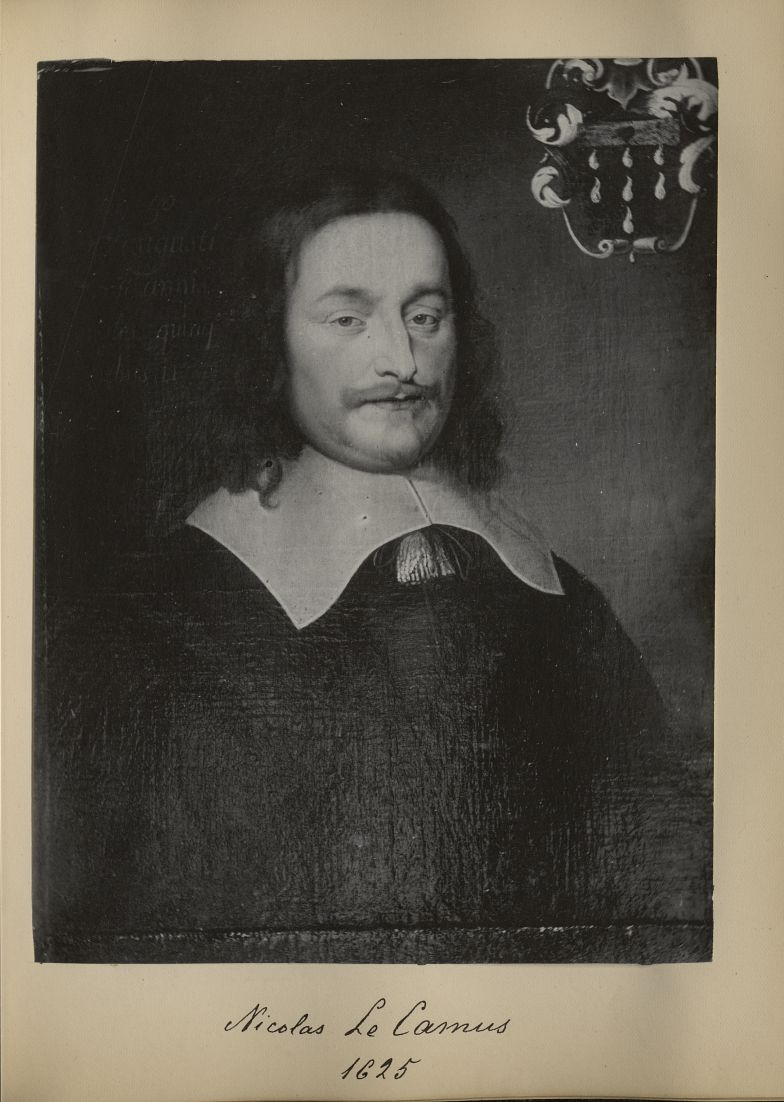 [Portrait de la salle des Actes] Nicolas Le Camus 1625 - Album de platinotypies. Tableaux de la sall [...] -  - medextcnop0003x0027