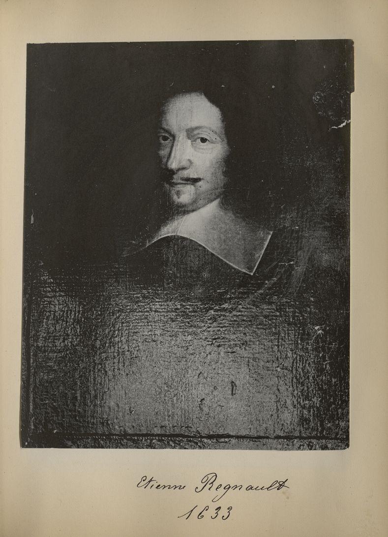 [Portrait de la salle des Actes] Etienne Regnault 1633 - Album de platinotypies. Tableaux de la sall [...] -  - medextcnop0003x0029