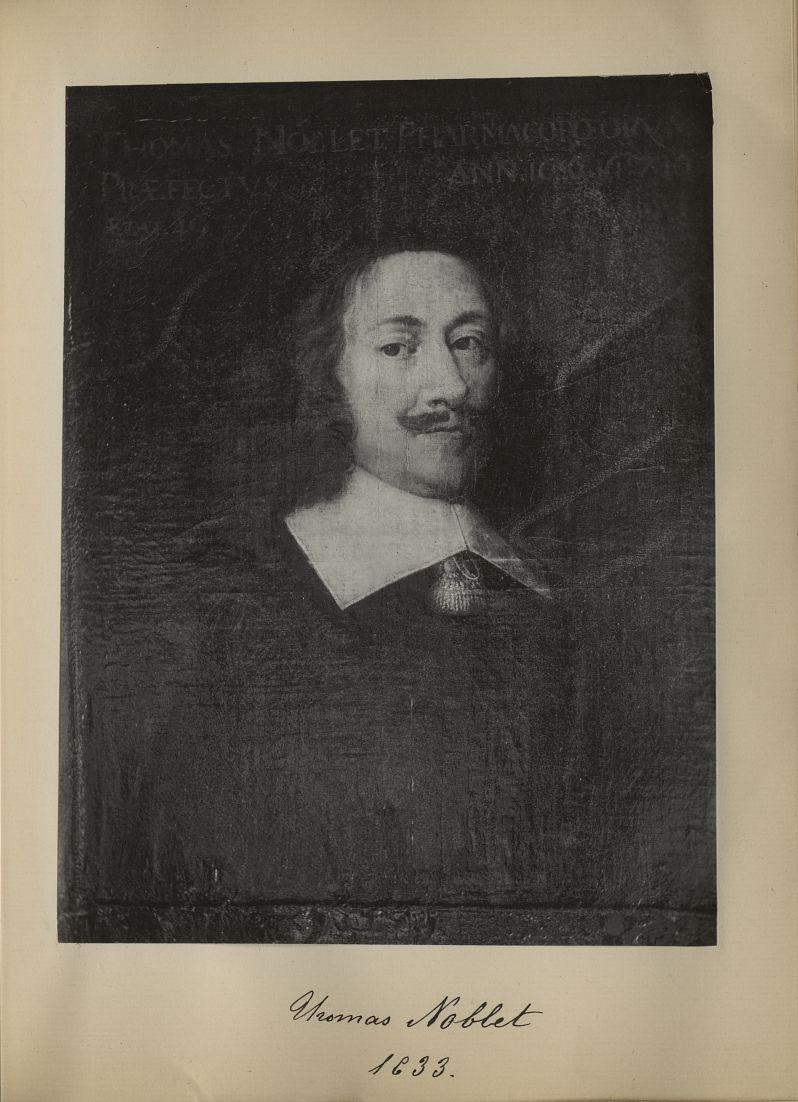 [Portrait de la salle des Actes] Thomas Noblet 1633 - Album de platinotypies. Tableaux de la salle d [...] -  - medextcnop0003x0030