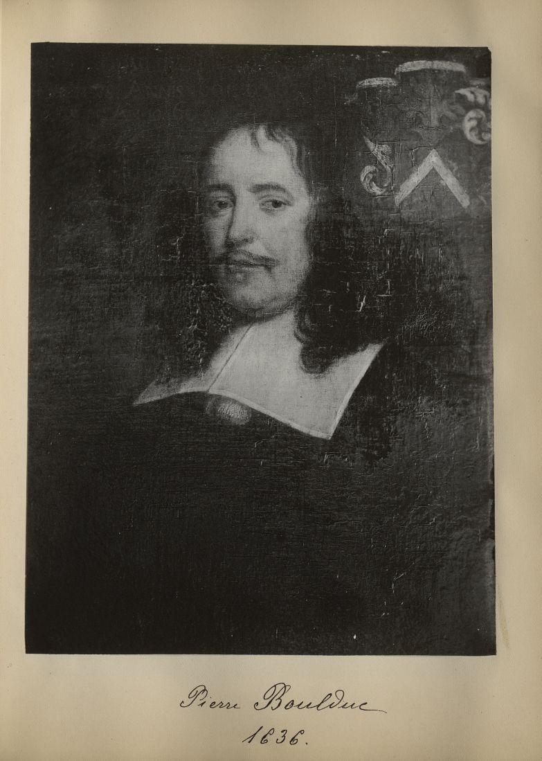 [Portrait de la salle des Actes] Pierre Boulduc 1636 - Album de platinotypies. Tableaux de la salle  [...] -  - medextcnop0003x0031