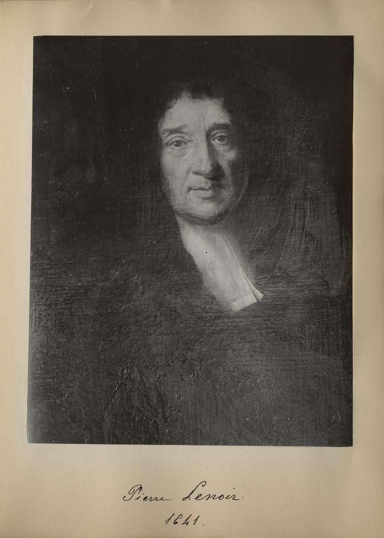 [Portrait de la salle des Actes] Pierre Lenoir 1641 - Album de platinotypies. Tableaux de la salle d [...] -  - medextcnop0003x0033