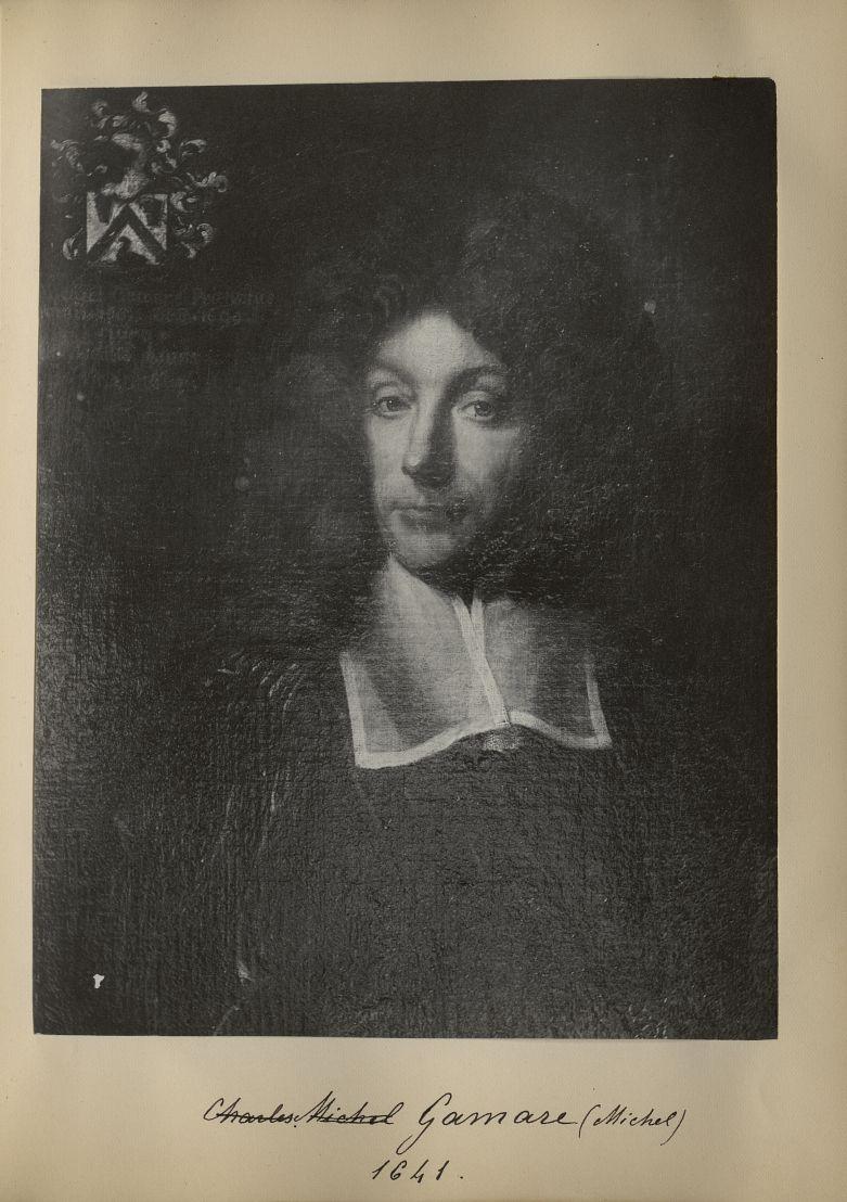 [Portrait de la salle des Actes] Michel Gamare 1641 - Album de platinotypies. Tableaux de la salle d [...] -  - medextcnop0003x0034