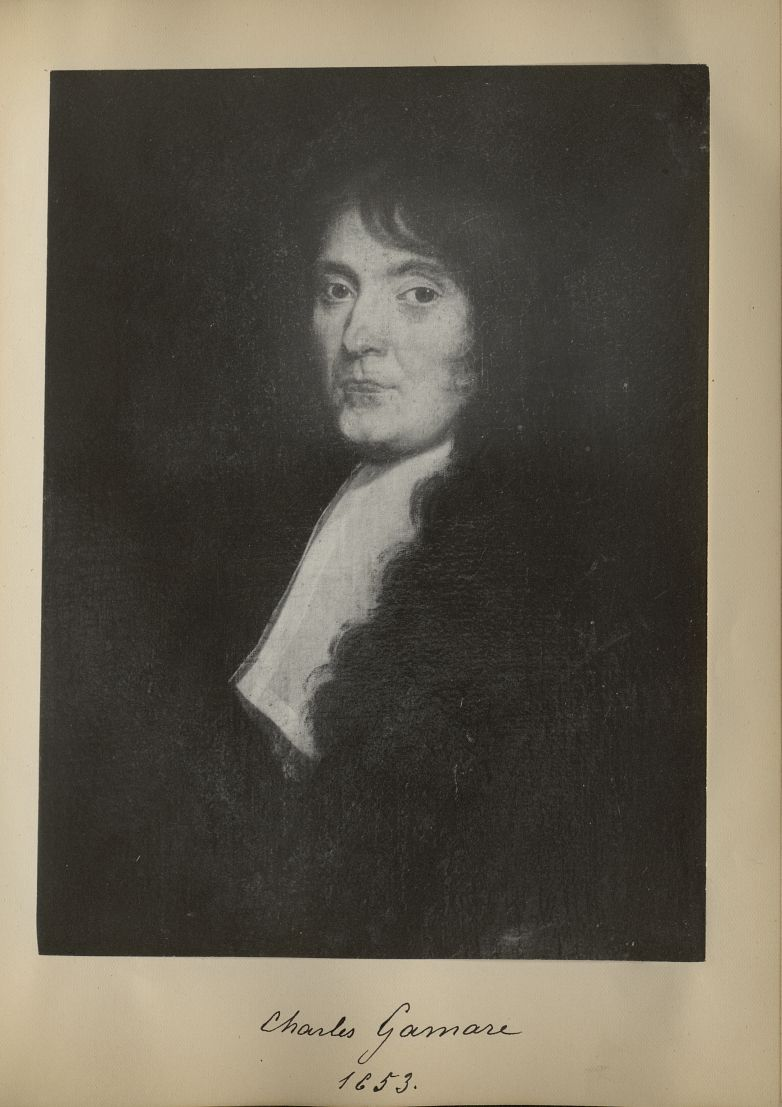 [Portrait de la salle des Actes] Charles Gamare 1653 - Album de platinotypies. Tableaux de la salle  [...] -  - medextcnop0003x0035