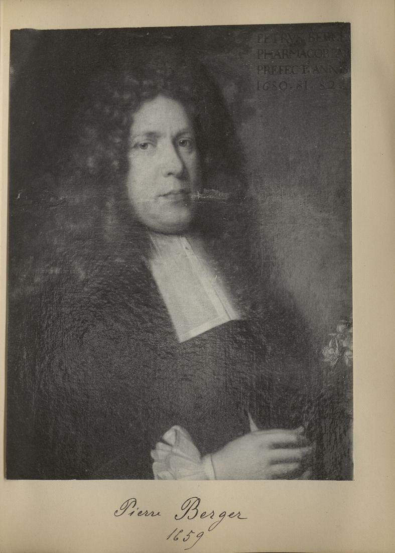 [Portrait de la salle des Actes] Pierre Berger 1659 - Album de platinotypies. Tableaux de la salle d [...] -  - medextcnop0003x0036