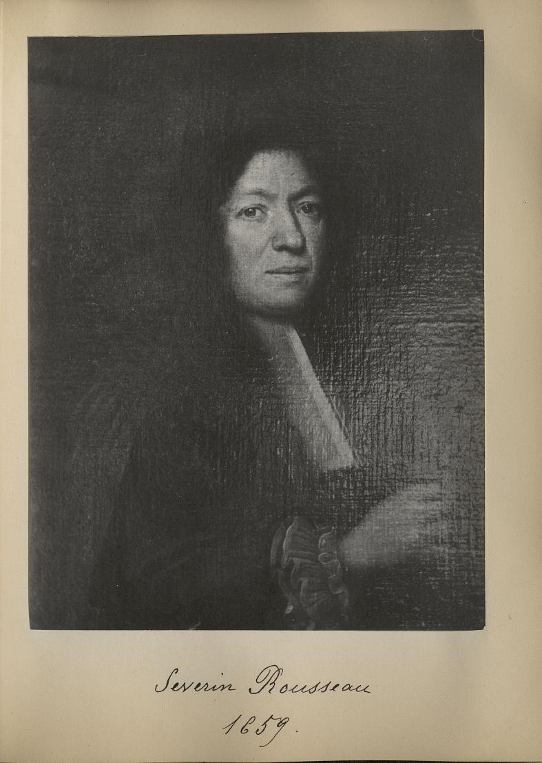 [Portrait de la salle des Actes] Severin Rousseau 1659 - Album de platinotypies. Tableaux de la sall [...] -  - medextcnop0003x0037
