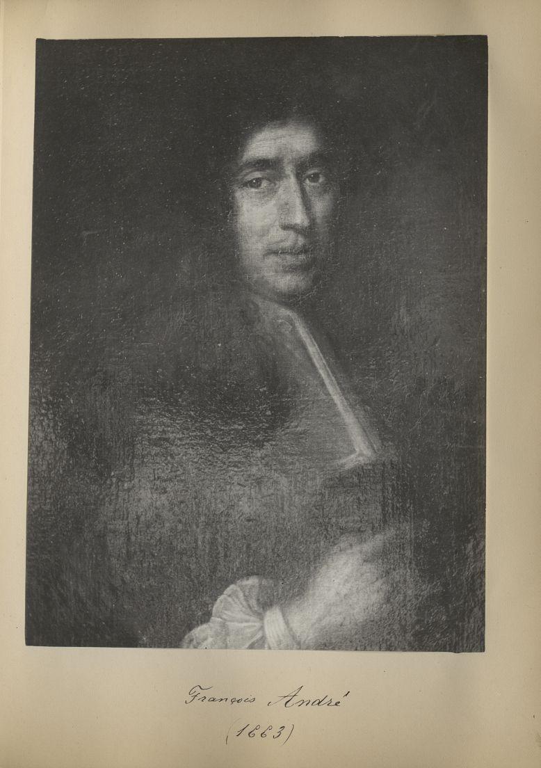 [Portrait de la salle des Actes] François André 1663 - Album de platinotypies. Tableaux de la salle  [...] -  - medextcnop0003x0038
