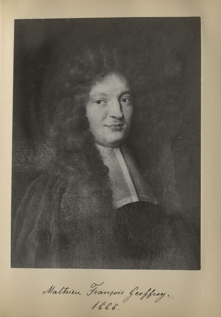 [Portrait de la salle des Actes] Mathieu François Geoffroy 1666 - Album de platinotypies. Tableaux d [...] -  - medextcnop0003x0039