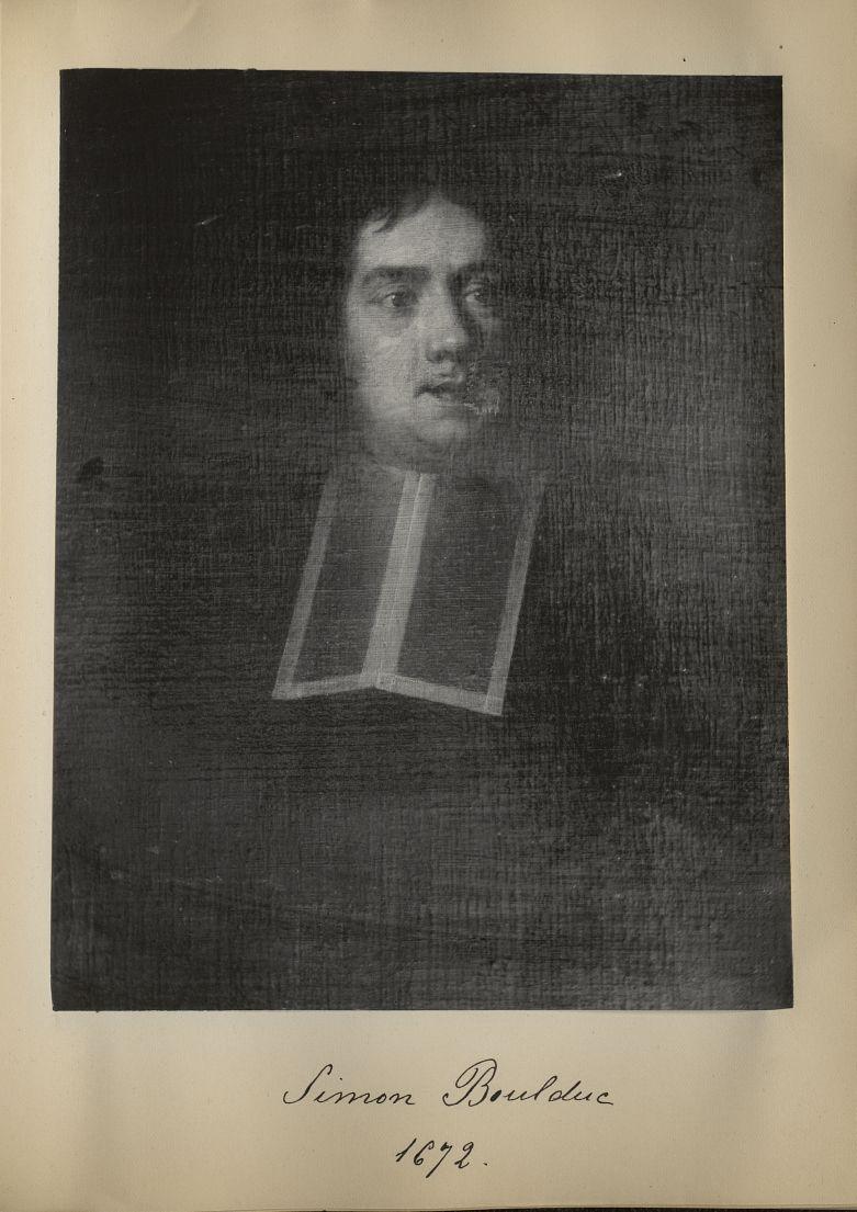 [Portrait de la salle des Actes] Simon Boulduc 1672 - Album de platinotypies. Tableaux de la salle d [...] -  - medextcnop0003x0040