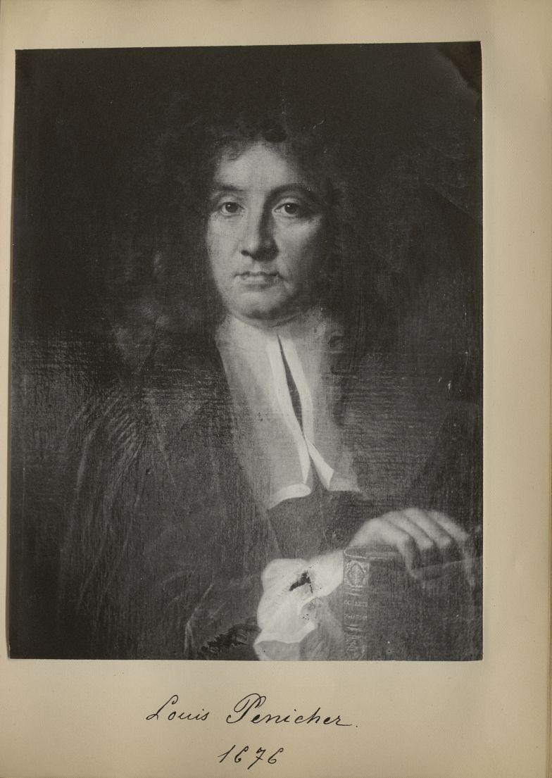[Portrait de la salle des Actes] Louis Penicher 1676 - Album de platinotypies. Tableaux de la salle  [...] -  - medextcnop0003x0041