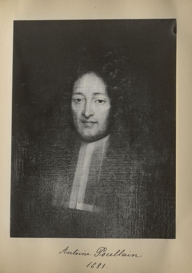 [Portrait de la salle des Actes] Antoine Poullain 1681 - Album de platinotypies. Tableaux de la sall [...] -  - medextcnop0003x0043