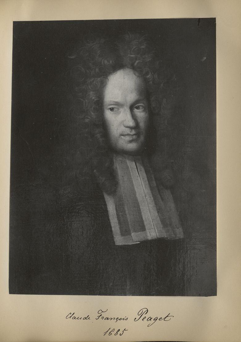 [Portrait de la salle des Actes] Claude François Peaget 1685 - Album de platinotypies. Tableaux de l [...] -  - medextcnop0003x0044