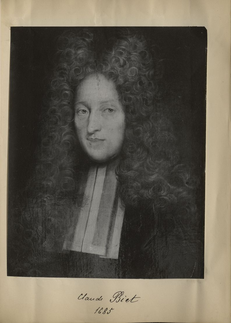 [Portrait de la salle des Actes] Claude Biet 1685 - Album de platinotypies. Tableaux de la salle des [...] -  - medextcnop0003x0045