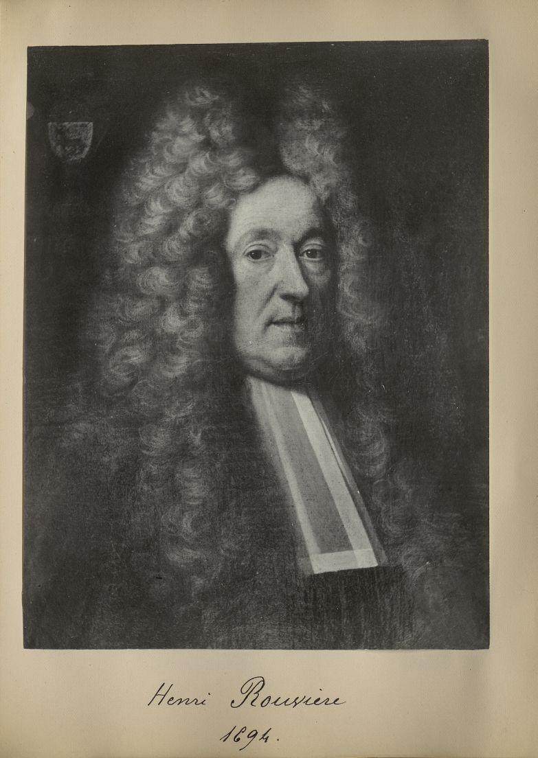 [Portrait de la salle des Actes] Henri Rouvière 1694 - Album de platinotypies. Tableaux de la salle  [...] -  - medextcnop0003x0046