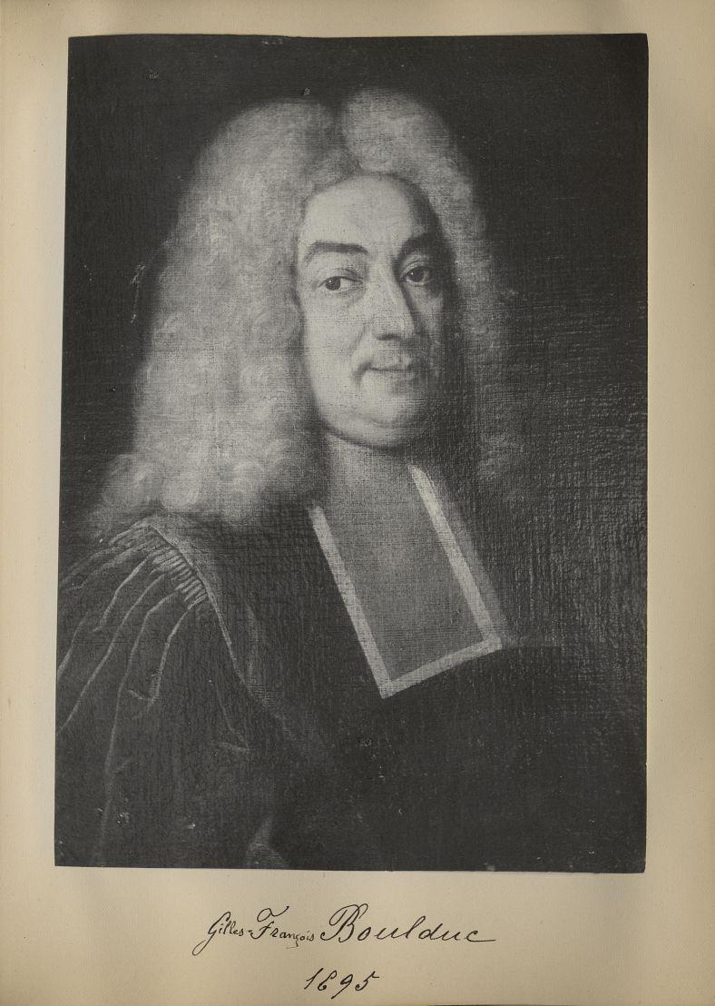 [Portrait de la salle des Actes] Gilles François Boulduc 1695 - Album de platinotypies. Tableaux de  [...] -  - medextcnop0003x0047