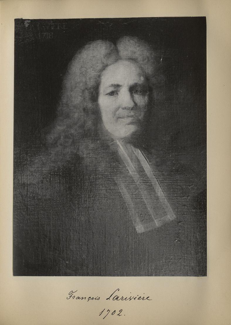 [Portrait de la salle des Actes] François Larivière 1702 - Album de platinotypies. Tableaux de la sa [...] -  - medextcnop0003x0048
