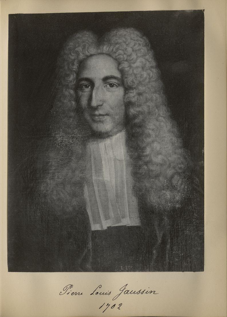 [Portrait de la salle des Actes] Pierre Louis Jaussin 1702 - Album de platinotypies. Tableaux de la  [...] -  - medextcnop0003x0049