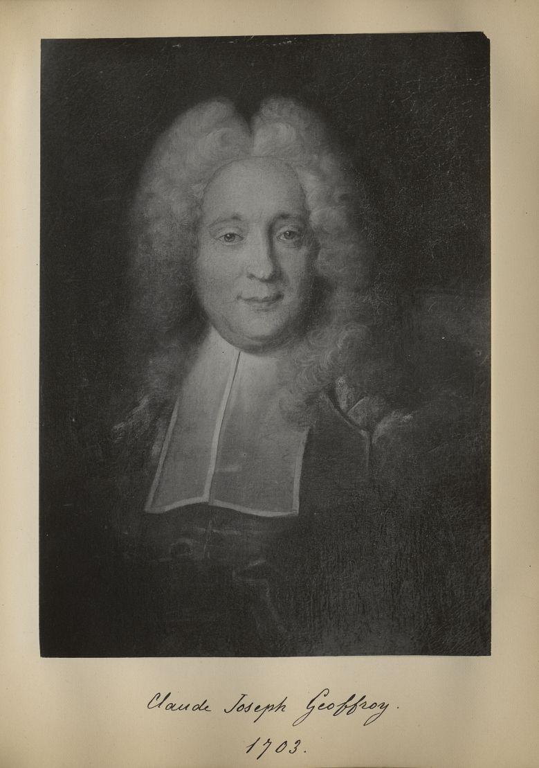 [Portrait de la salle des Actes] Claude Joseph Geoffroy 1703 - Album de platinotypies. Tableaux de l [...] -  - medextcnop0003x0050