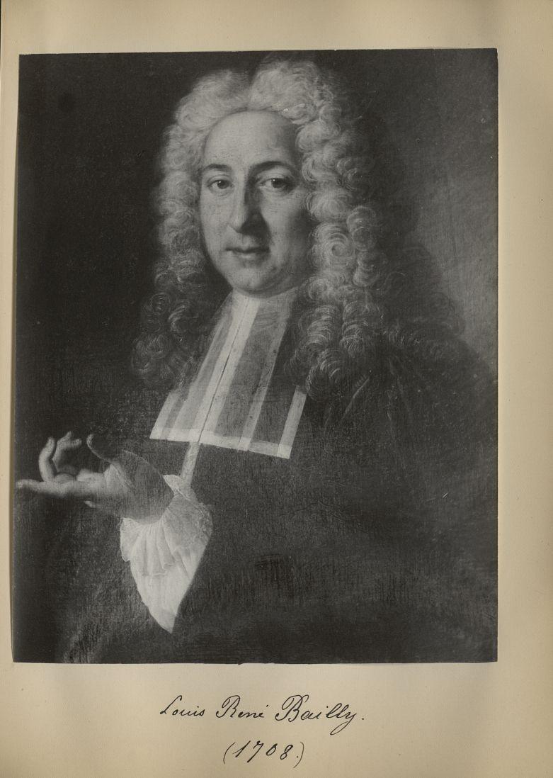 [Portrait de la salle des Actes] Louis René Bailly 1708 - Album de platinotypies. Tableaux de la sal [...] -  - medextcnop0003x0051