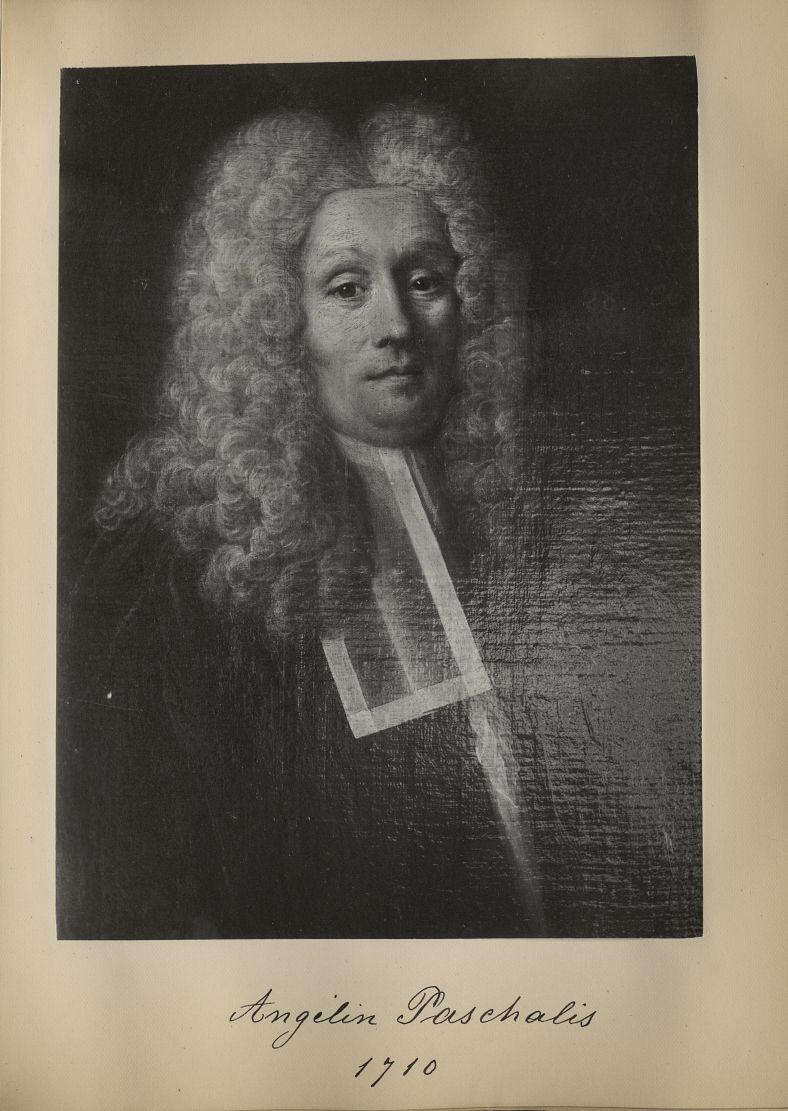 [Portrait de la salle des Actes] Angelin Paschalis 1710 - Album de platinotypies. Tableaux de la sal [...] -  - medextcnop0003x0052