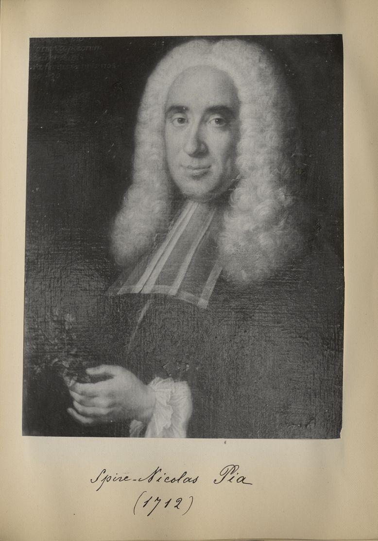 [Portrait de la salle des Actes] Spire Nicolas Pia 1712 - Album de platinotypies. Tableaux de la sal [...] -  - medextcnop0003x0053