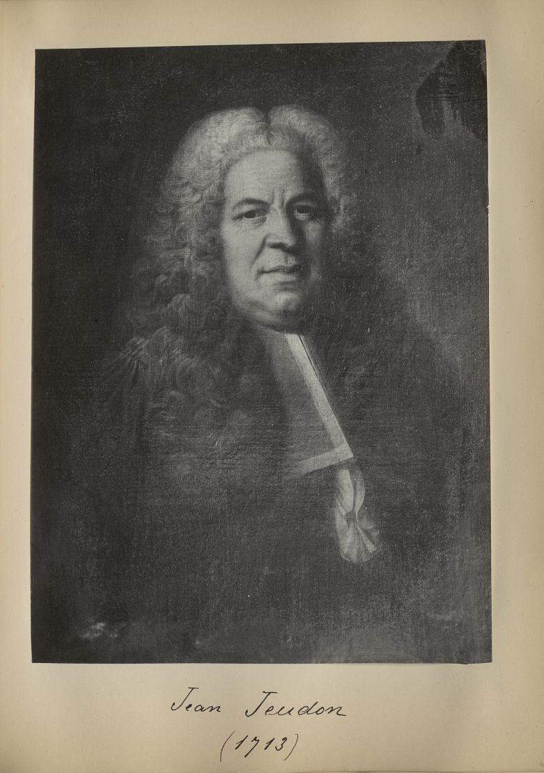 [Portrait de la salle des Actes] Jean Jeudon 1713 - Album de platinotypies. Tableaux de la salle des [...] -  - medextcnop0003x0054