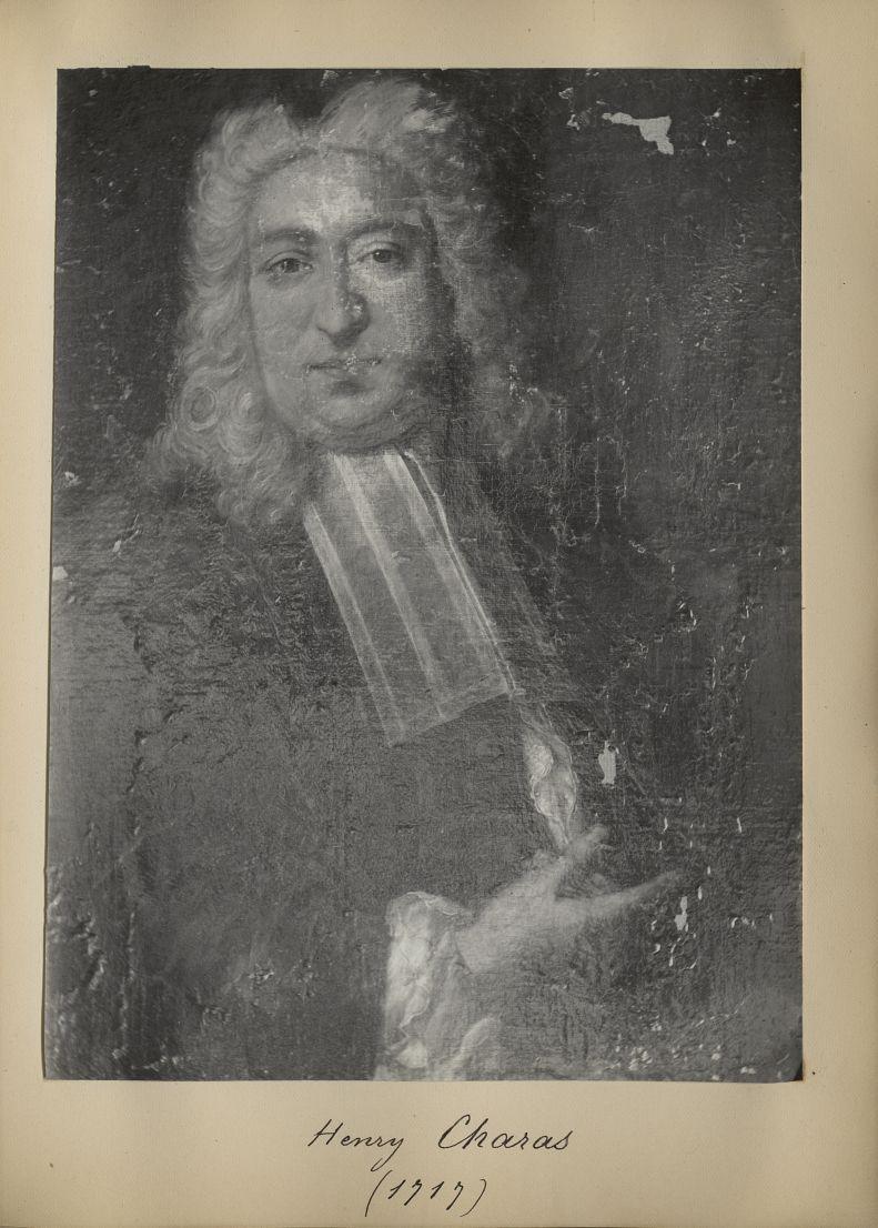 [Portrait de la salle des Actes] Henry Charas 1717 - Album de platinotypies. Tableaux de la salle de [...] -  - medextcnop0003x0056