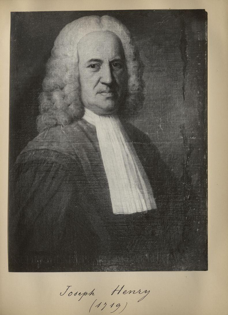 [Portrait de la salle des Actes] Joseph Henry 1719 - Album de platinotypies. Tableaux de la salle de [...] -  - medextcnop0003x0057