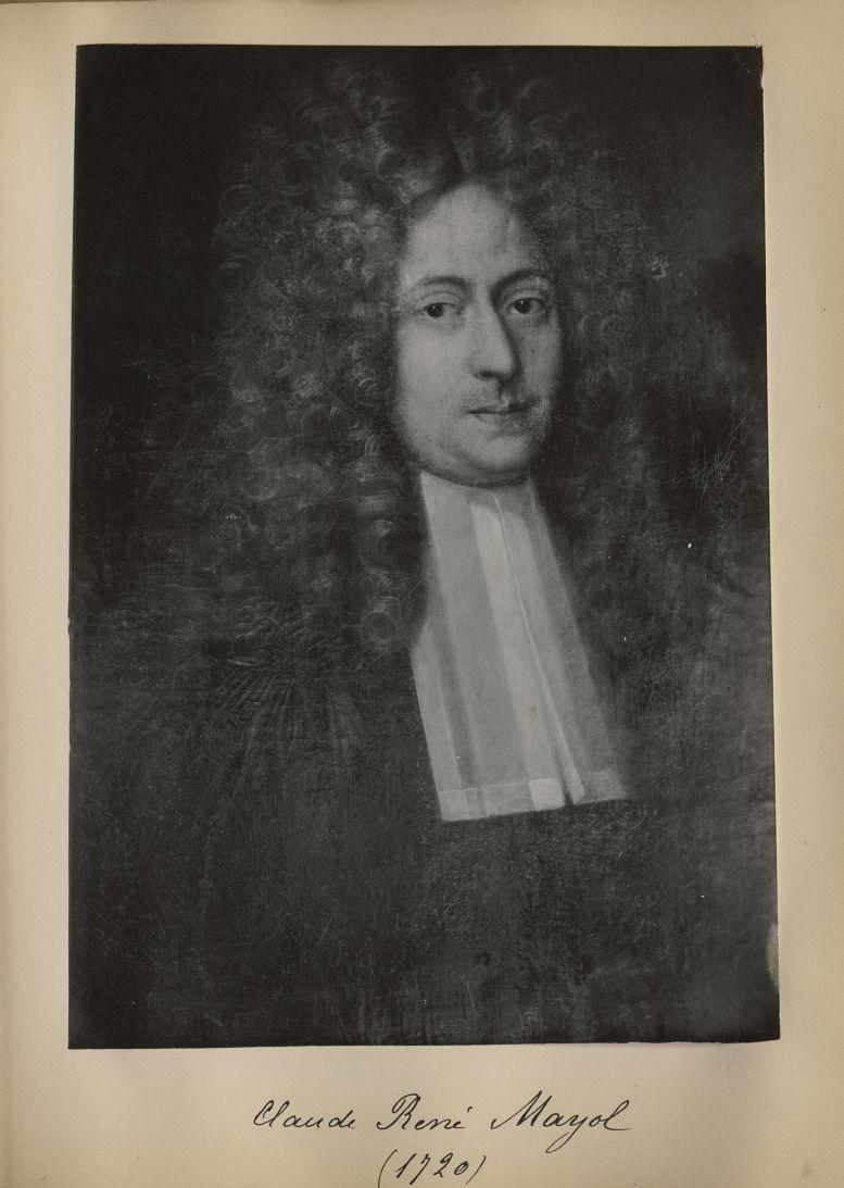 [Portrait de la salle des Actes] Claude René Mayol 1720 - Album de platinotypies. Tableaux de la sal [...] -  - medextcnop0003x0059