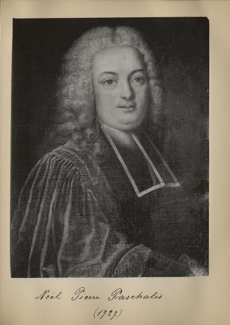 [Portrait de la salle des Actes] Noël Pierre Paschalis 1727 - Album de platinotypies. Tableaux de la [...] -  - medextcnop0003x0061