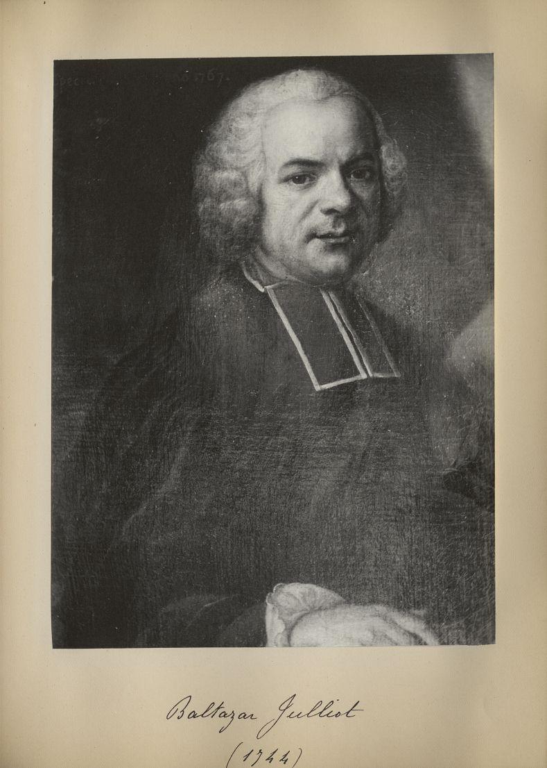 [Portrait de la salle des Actes] Baltazar Julliot 1744 - Album de platinotypies. Tableaux de la sall [...] -  - medextcnop0003x0063