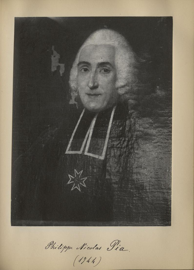 [Portrait de la salle des Actes] Philippe Nicolas Pia 1744 - Album de platinotypies. Tableaux de la  [...] -  - medextcnop0003x0064