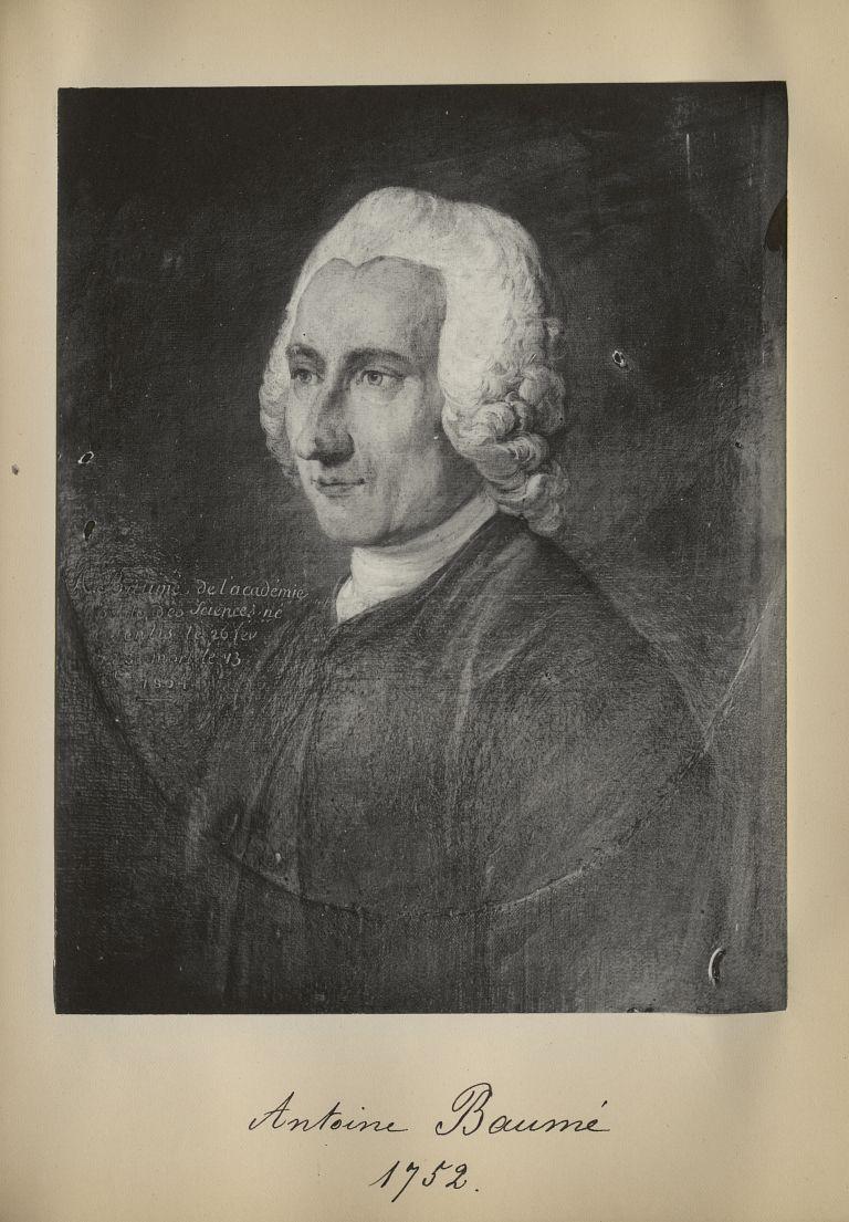 [Portrait de la salle des Actes] Antoine Baumé 1752 - Album de platinotypies. Tableaux de la salle d [...] -  - medextcnop0003x0067