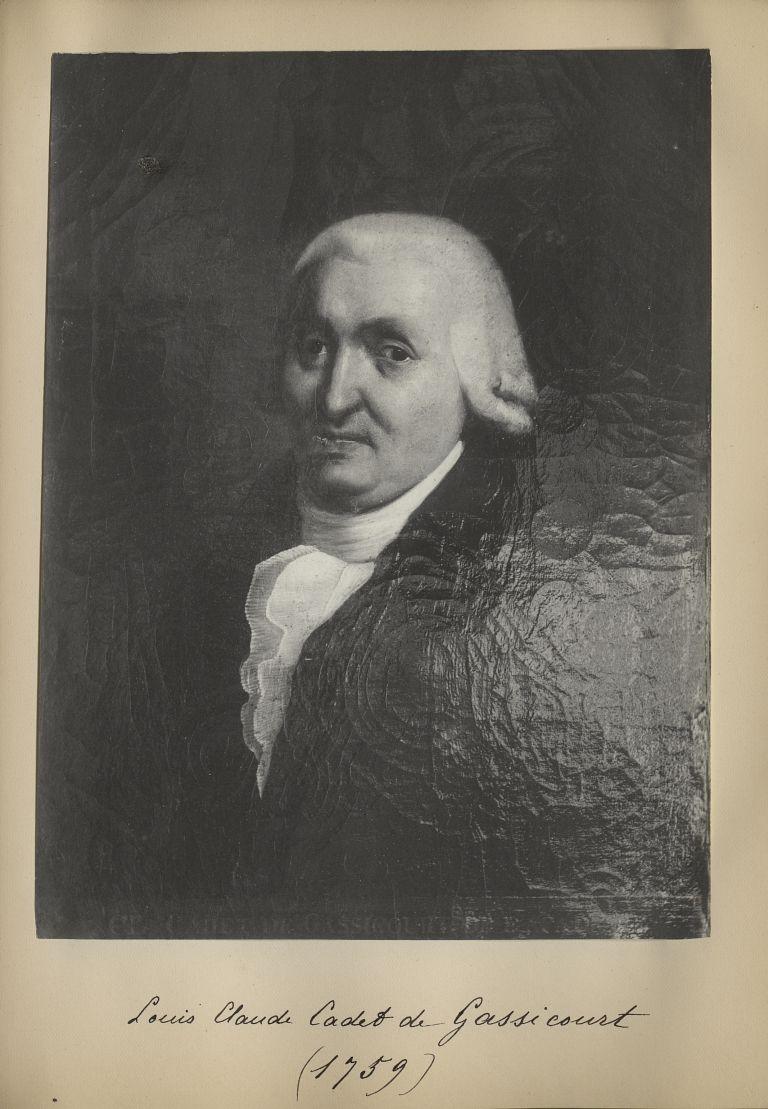 [Portrait de la salle des Actes] Louis Claude Cadet de Gassicourt 1759 - Album de platinotypies. Tab [...] -  - medextcnop0003x0068