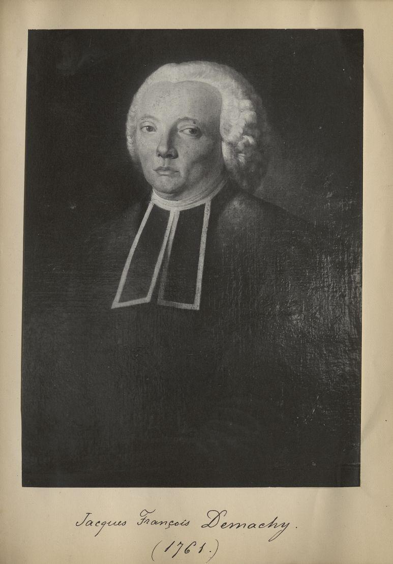 [Portrait de la salle des Actes] Jacques François Demachy 1761 - Album de platinotypies. Tableaux de [...] -  - medextcnop0003x0069