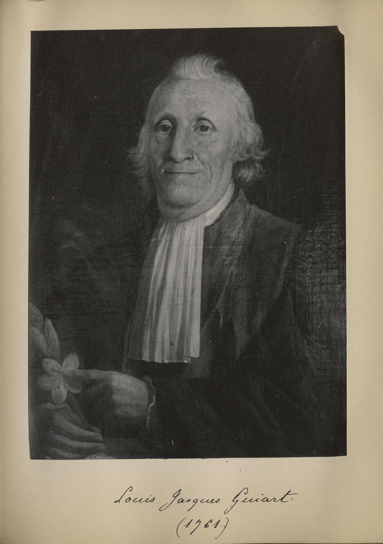 [Portrait de la salle des Actes] Louis Jacques Guiart 1761 - Album de platinotypies. Tableaux de la  [...] -  - medextcnop0003x0070