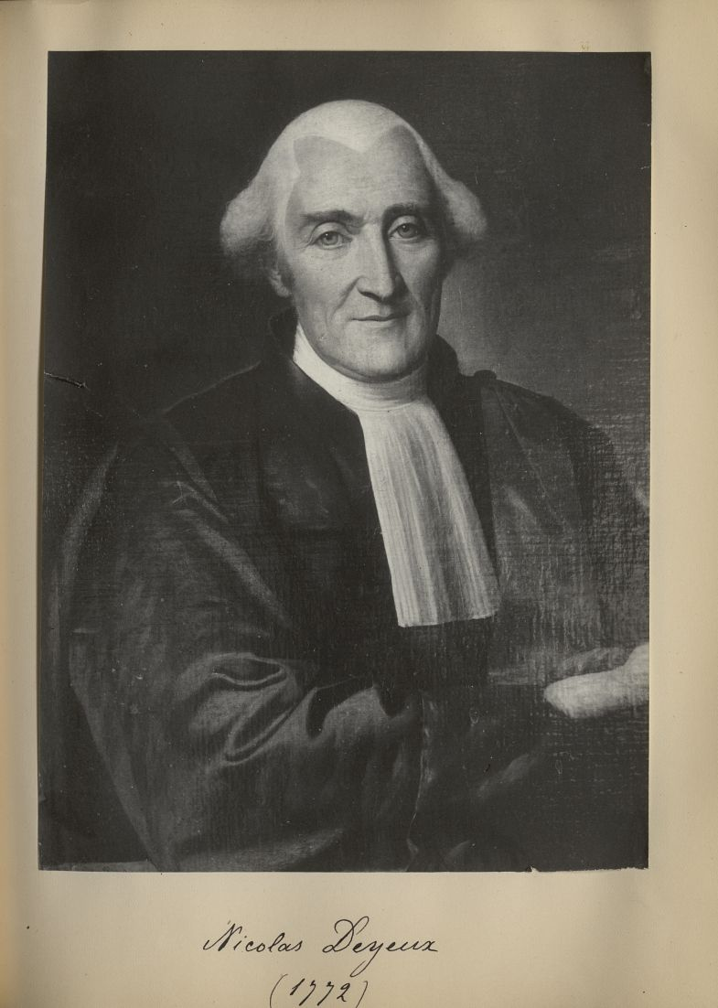 [Portrait de la salle des Actes] Nicolas Deyeux 1772 - Album de platinotypies. Tableaux de la salle  [...] -  - medextcnop0003x0072