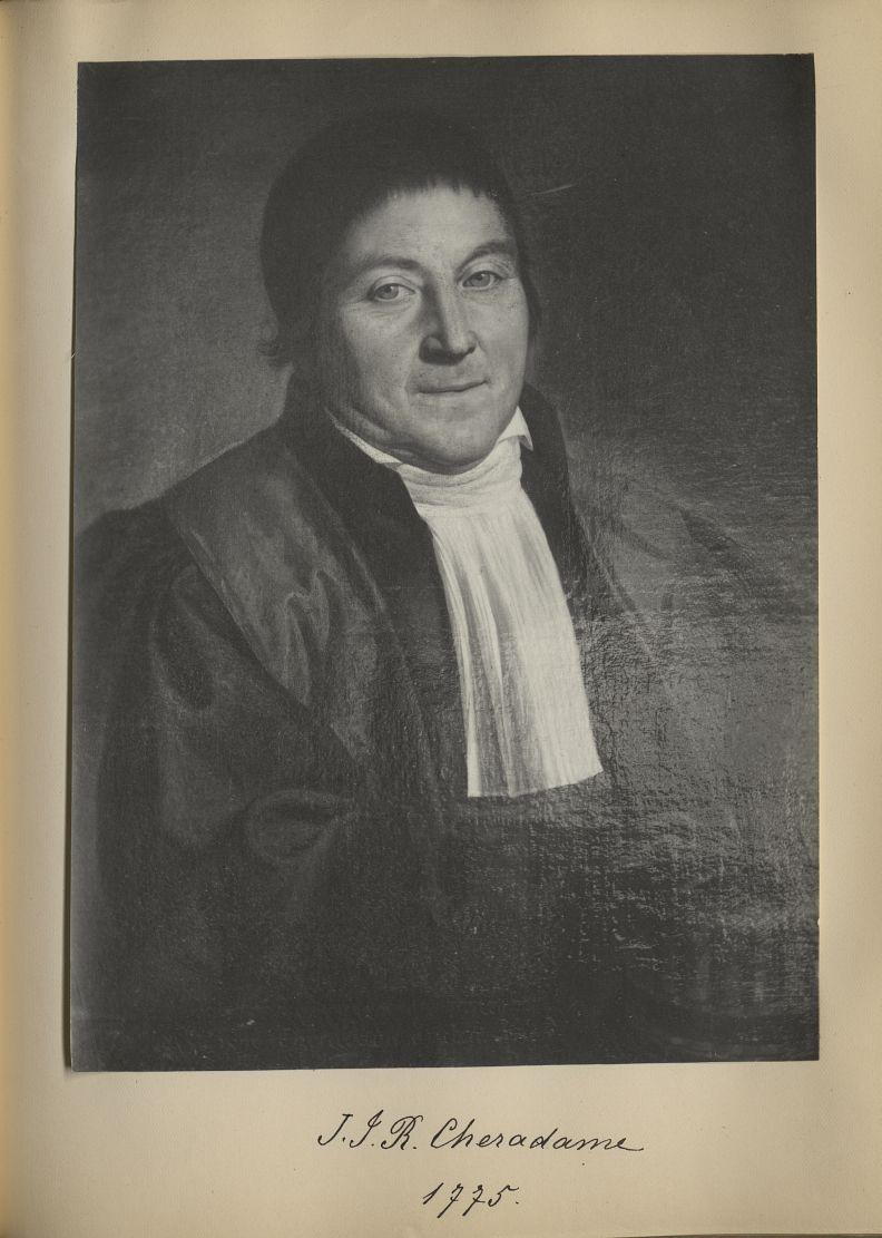 [Portrait de la salle des Actes] J.J.R. Cheradame 1775 - Album de platinotypies. Tableaux de la sall [...] -  - medextcnop0003x0074