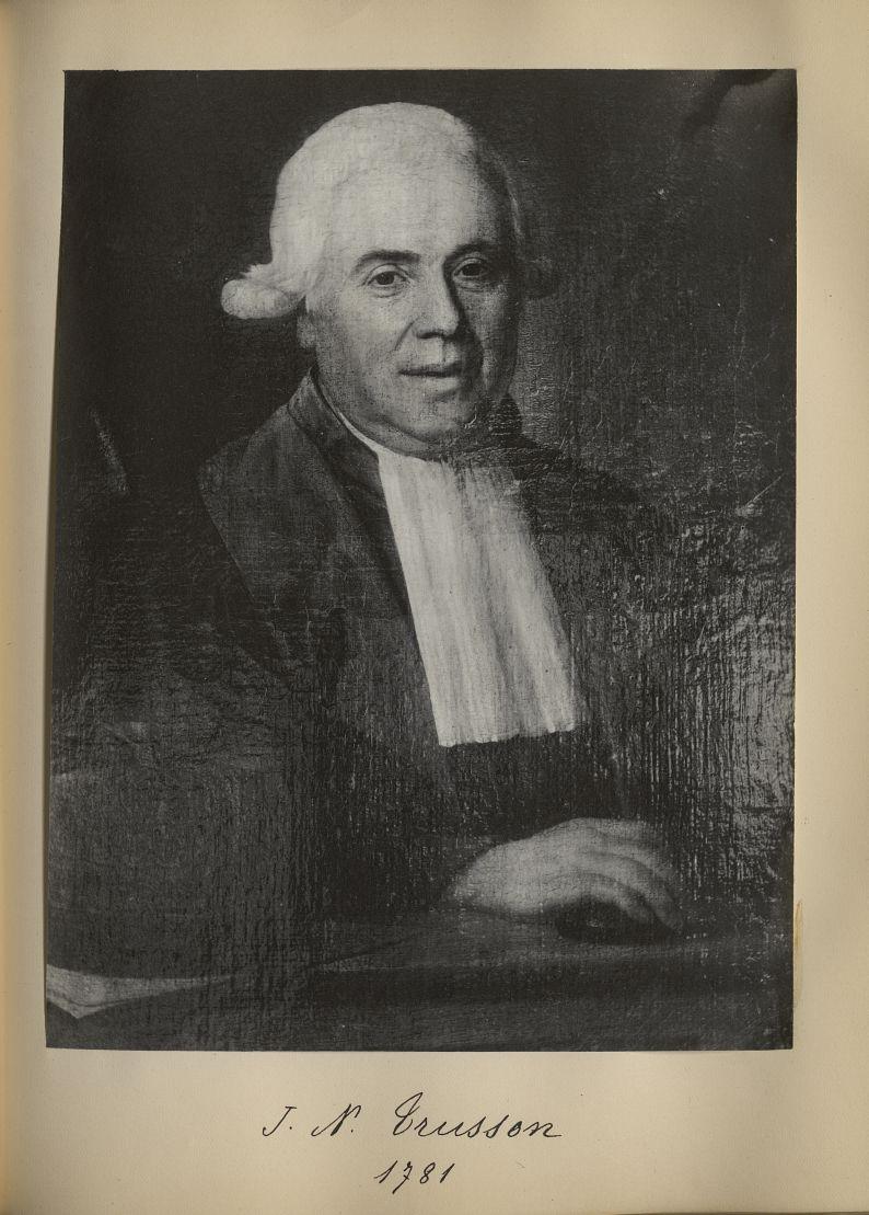 [Portrait de la salle des Actes] J.N. Trusson 1781 - Album de platinotypies. Tableaux de la salle de [...] -  - medextcnop0003x0075