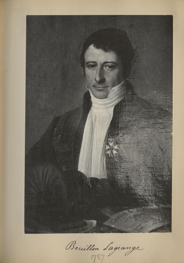 [Portrait de la salle des Actes] Bouillon Lagrange 1787 - Album de platinotypies. Tableaux de la sal [...] -  - medextcnop0003x0077