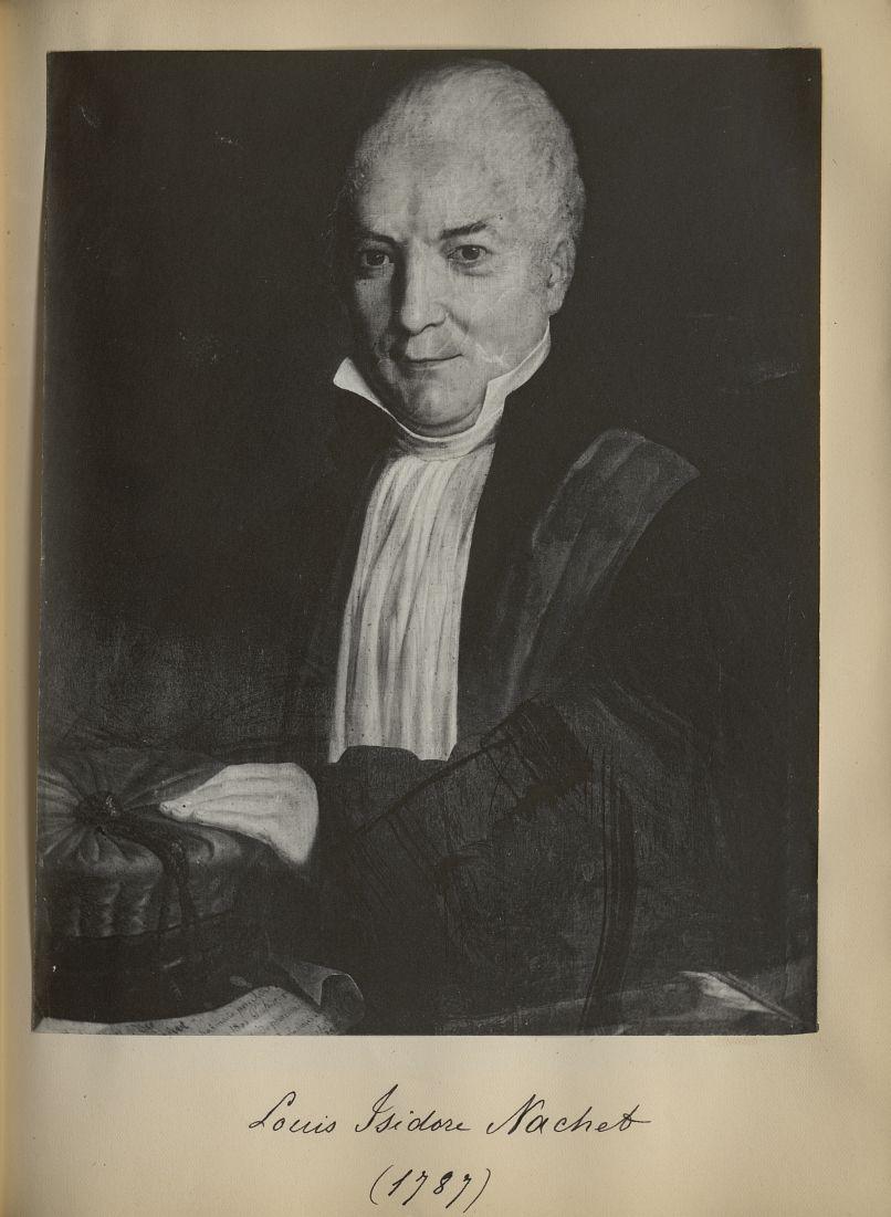 [Portrait de la salle des Actes] Louis Isidore Nachet 1787 - Album de platinotypies. Tableaux de la  [...] -  - medextcnop0003x0078