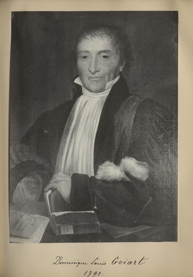 [Portrait de la salle des Actes] Dominique Louis Guiart 1791 - Album de platinotypies. Tableaux de l [...] -  - medextcnop0003x0079