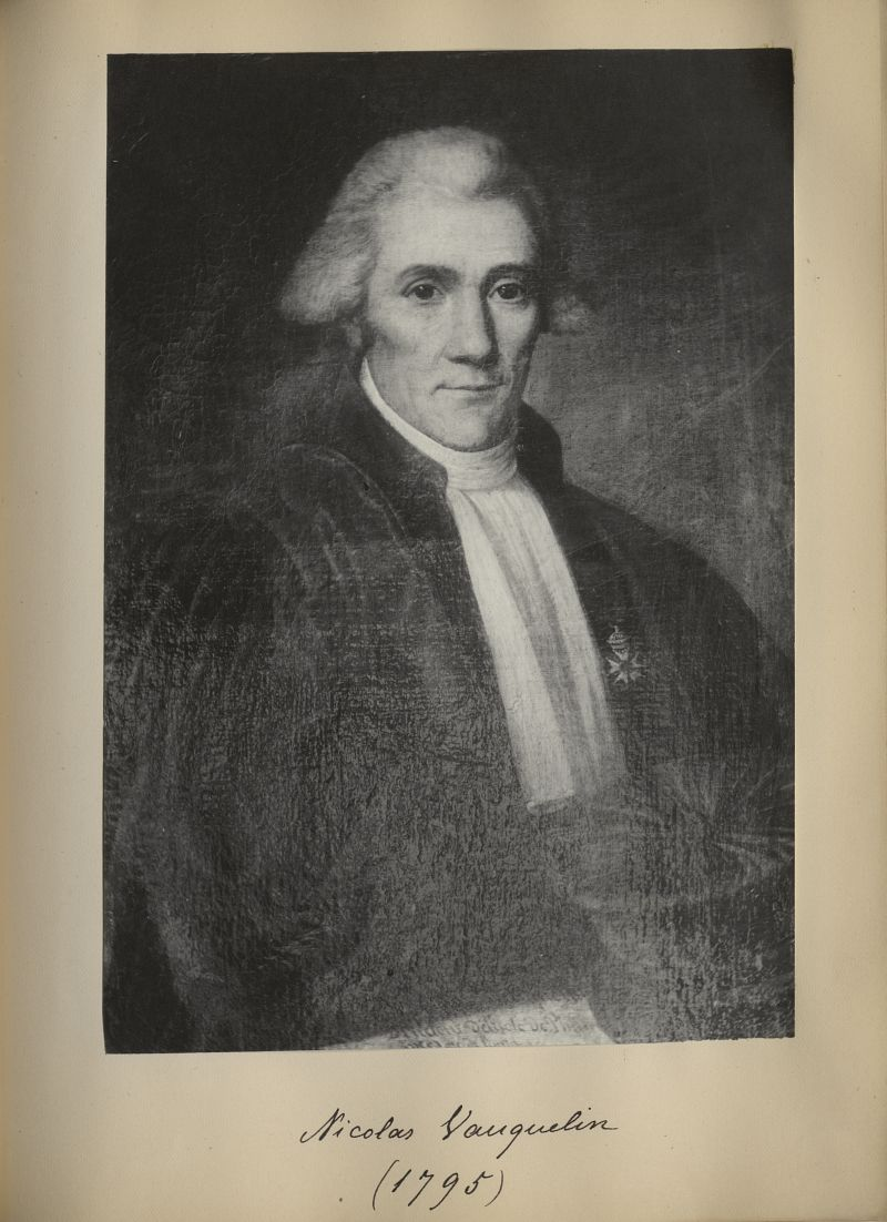 [Portrait de la salle des Actes] Nicolas Vauquelin 1795 - Album de platinotypies. Tableaux de la sal [...] -  - medextcnop0003x0080