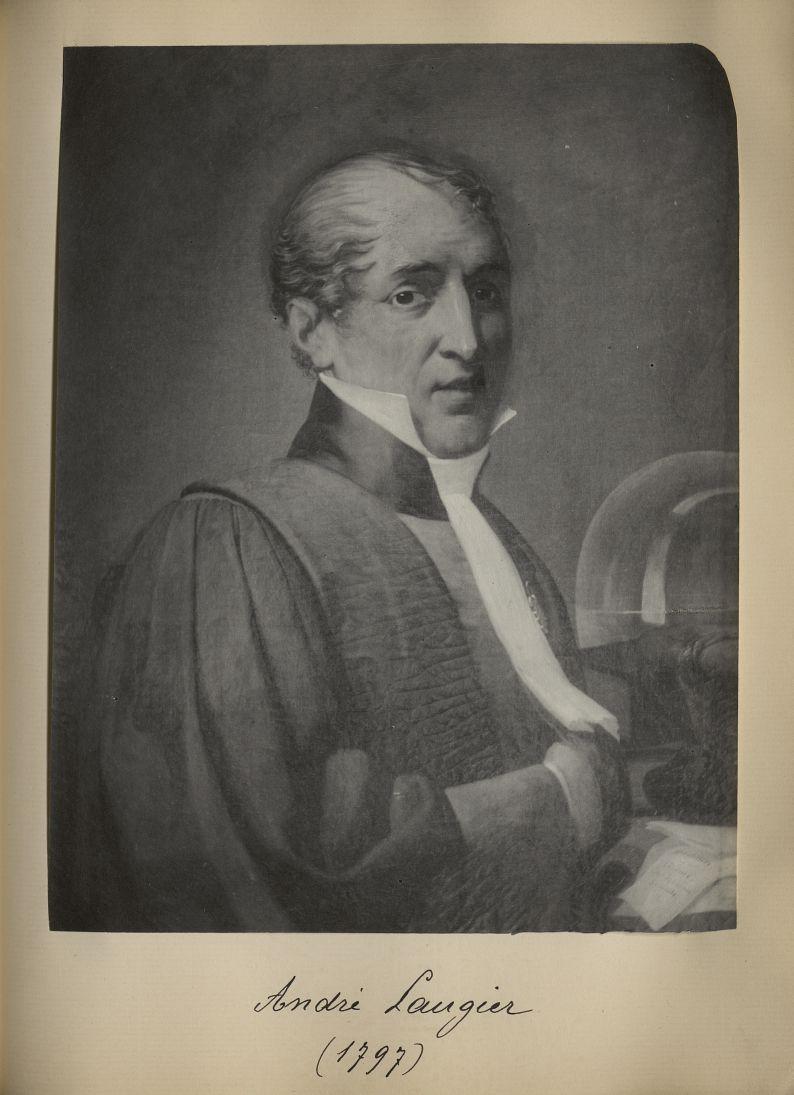 [Portrait de la salle des Actes] André Laugier 1797 - Album de platinotypies. Tableaux de la salle d [...] -  - medextcnop0003x0081