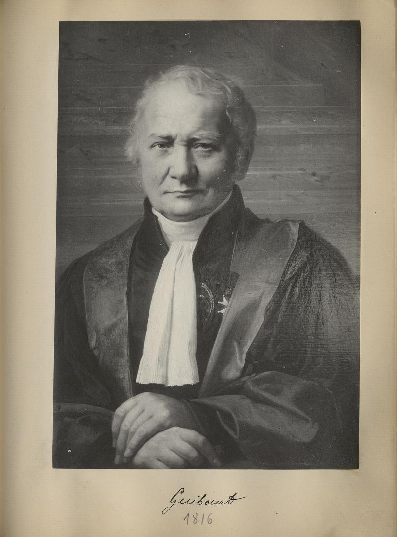 [Portrait de la salle des Actes] Guibourt 1816 - Album de platinotypies. Tableaux de la salle des Ac [...] -  - medextcnop0003x0086