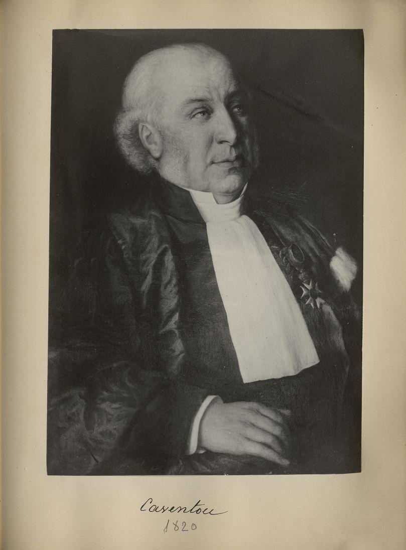 [Portrait de la salle des Actes] Caventou 1820 - Album de platinotypies. Tableaux de la salle des Ac [...] -  - medextcnop0003x0087