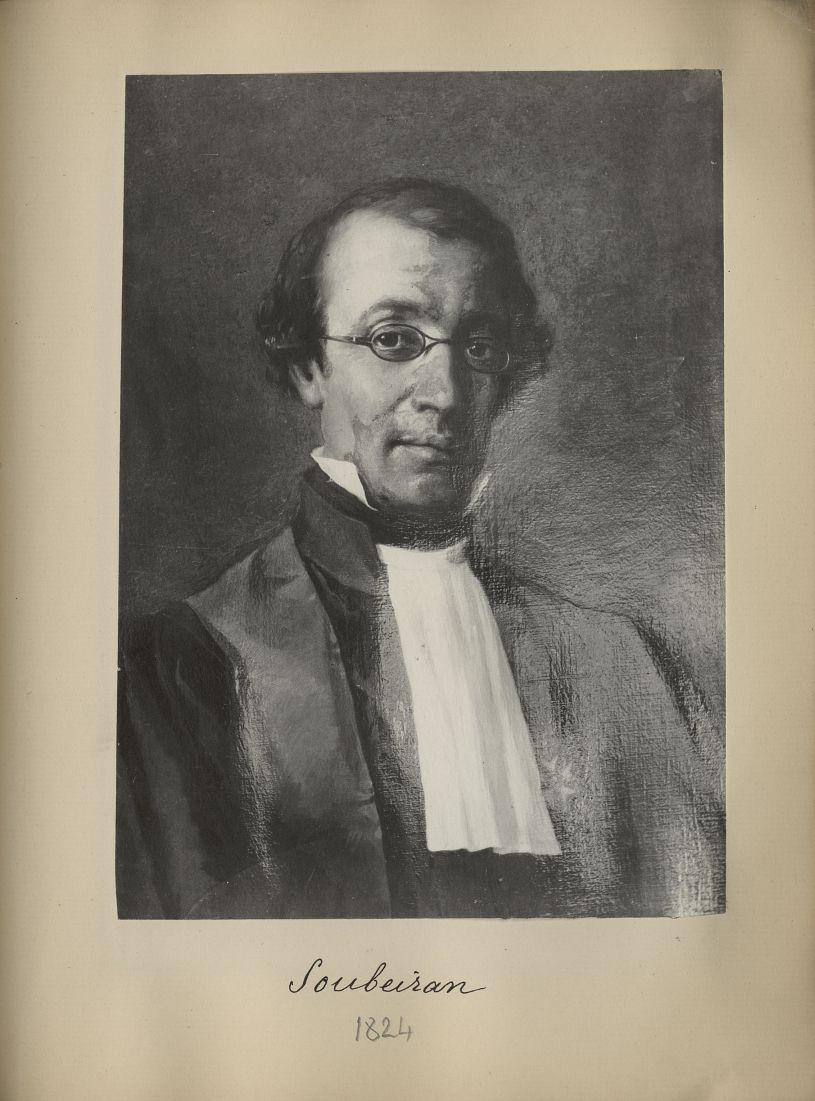 [Portrait de la salle des Actes] Soubeiran 1824 - Album de platinotypies. Tableaux de la salle des A [...] -  - medextcnop0003x0089