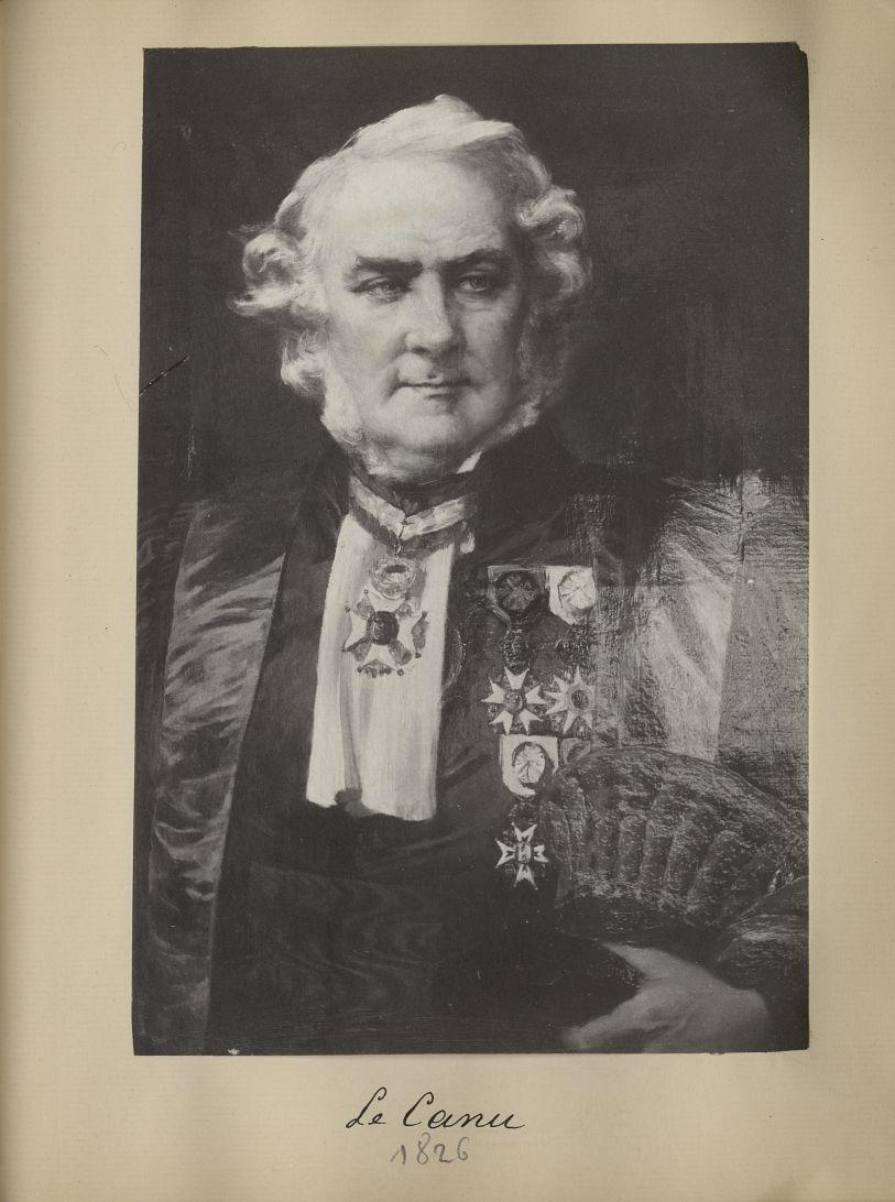 [Portrait de la salle des Actes] Le Canu 1826 - Album de platinotypies. Tableaux de la salle des Act [...] -  - medextcnop0003x0090
