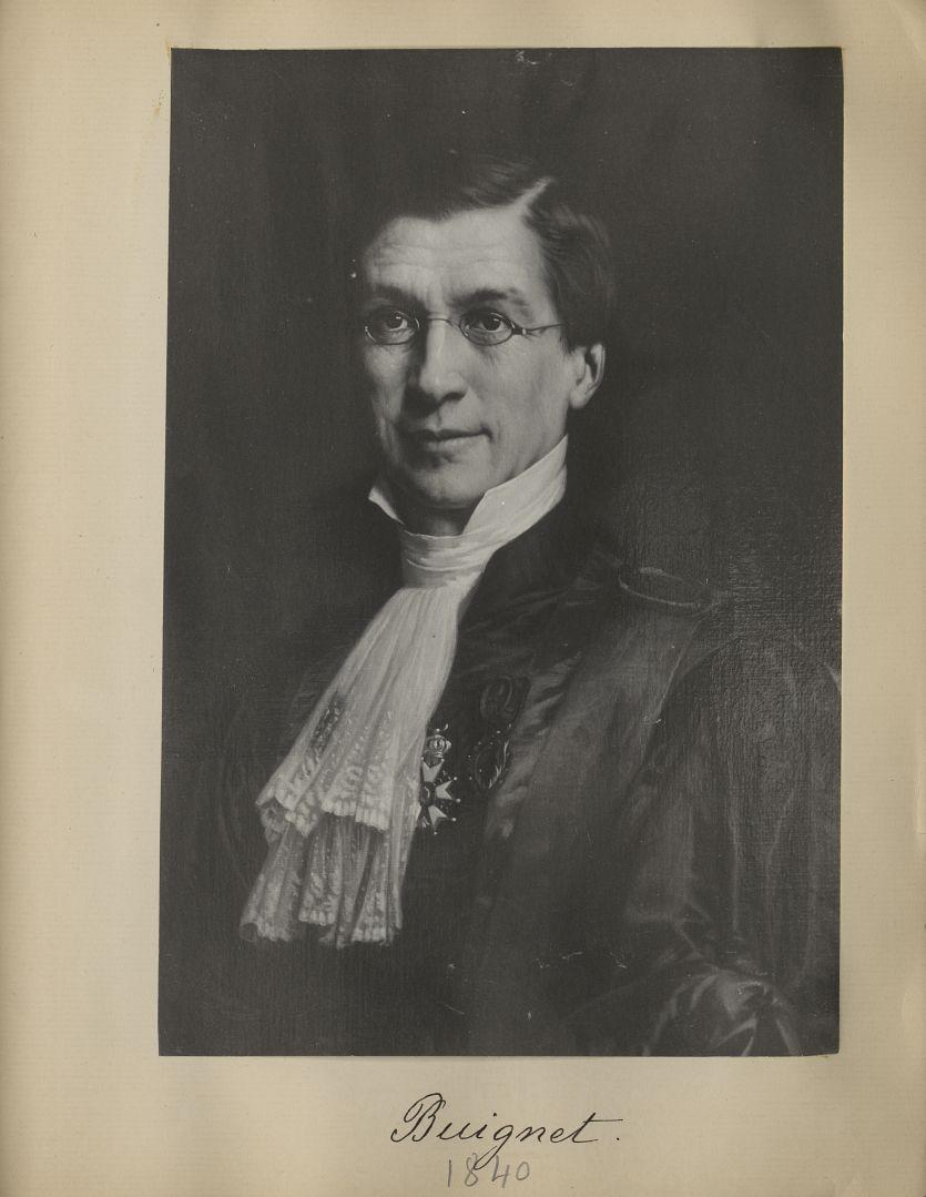 [Portrait de la salle des Actes] Buignet 1840 - Album de platinotypies. Tableaux de la salle des Act [...] -  - medextcnop0003x0091