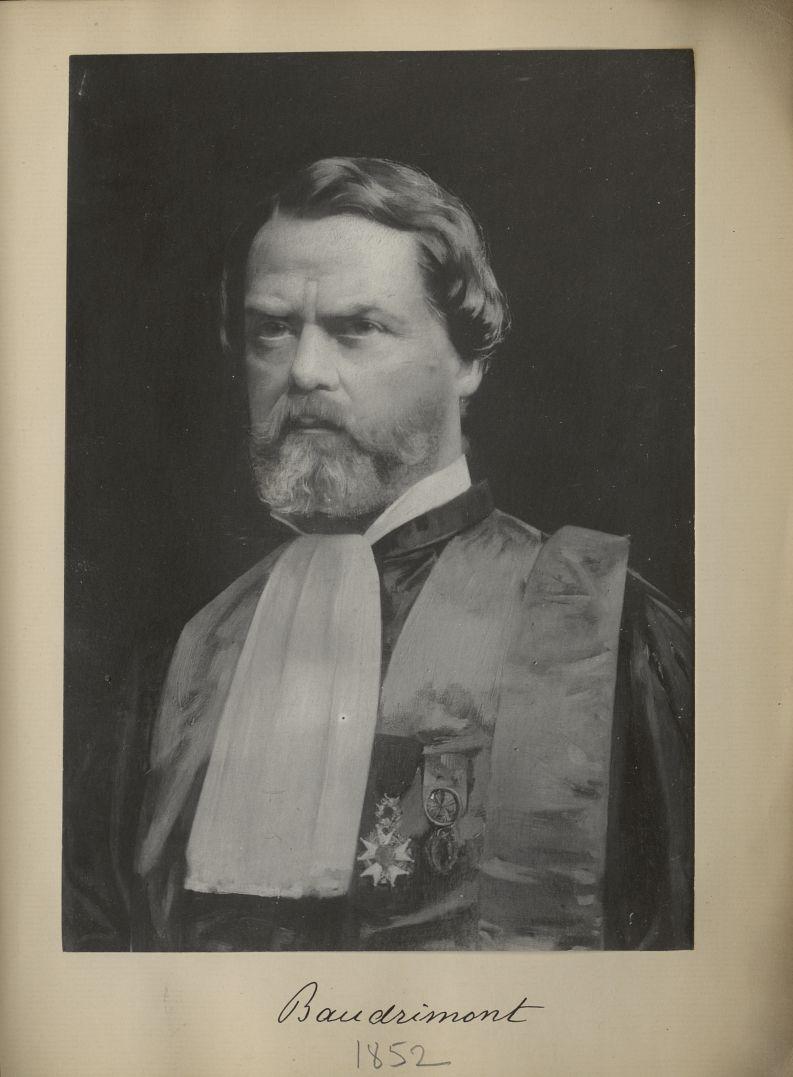 [Portrait de la salle des Actes] Baudrimont 1852 - Album de platinotypies. Tableaux de la salle des  [...] -  - medextcnop0003x0092